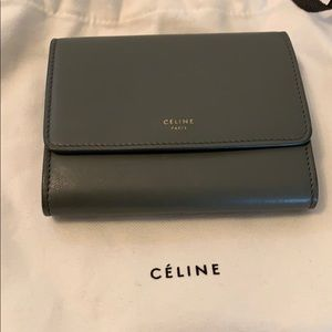 Celine olive green wallet